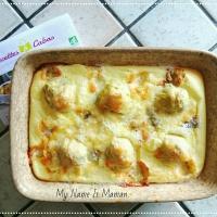 Recette de clafoutis de cœur d'artichauts au gorgonzola