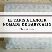 BabyCalin et son tapis à langer nomade
