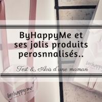 ByHappyMe et ses produits personnalisés