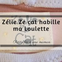 Zélie Ze Cat habille Loulette