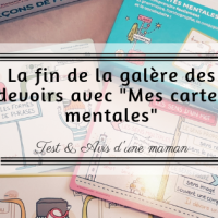 """La fin de la galère des devoirs avec """"Mes cartes mentales"""""""
