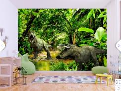 screenshot_2019-01-27 papier peint moderne dinosaurs in the jungle