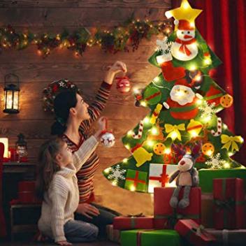 Screenshot_2019-11-01 FunPa Feutre Arbre de Noël, 3 28ft Sapin de Noël Décoration Vitrine DIY Feutre avec 50LEDs lumières 2[...]