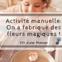 Activité manuelle:On a fabriqué des fleurs magiques !