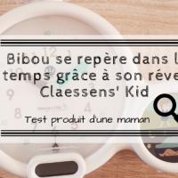 Bibou se repère dans le temps grâce à son réveil Claessens' Kid