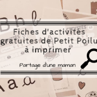 Fiches d'activités gratuites de Petit Poilu à imprimer