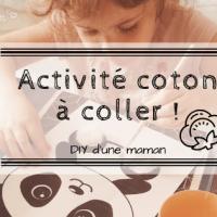 DIY: Activité coton à coller !